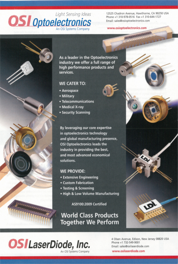 OSI Laser Diode Inc's World Class Products